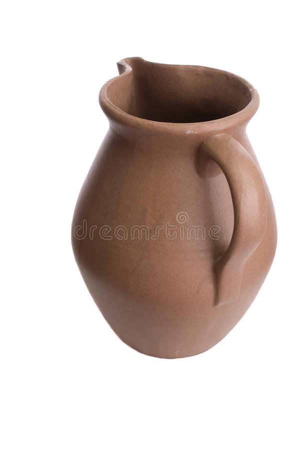 Free Handmade Clay Ceramic Water Pitcher Royalty Free Stock Image - 4246096