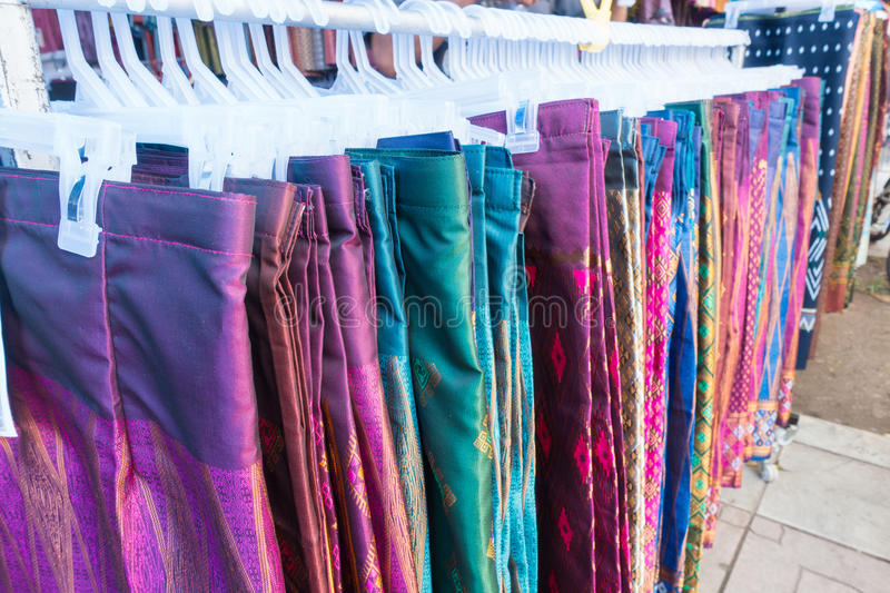 Handmade cloth from farmers, agricultural fairs. Photography royalty free stock photos