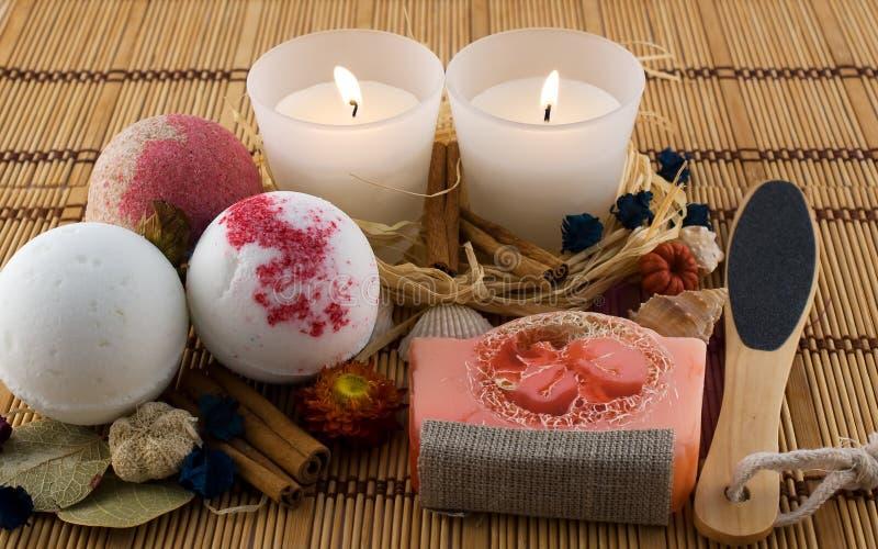 Handmade cosmetics for bath stock photo