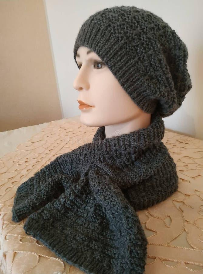 Handmade crochet  for man royalty free stock photos