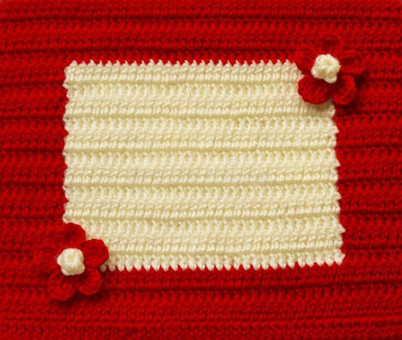 Handmade crochet pattern, knitting, sewing stock photography