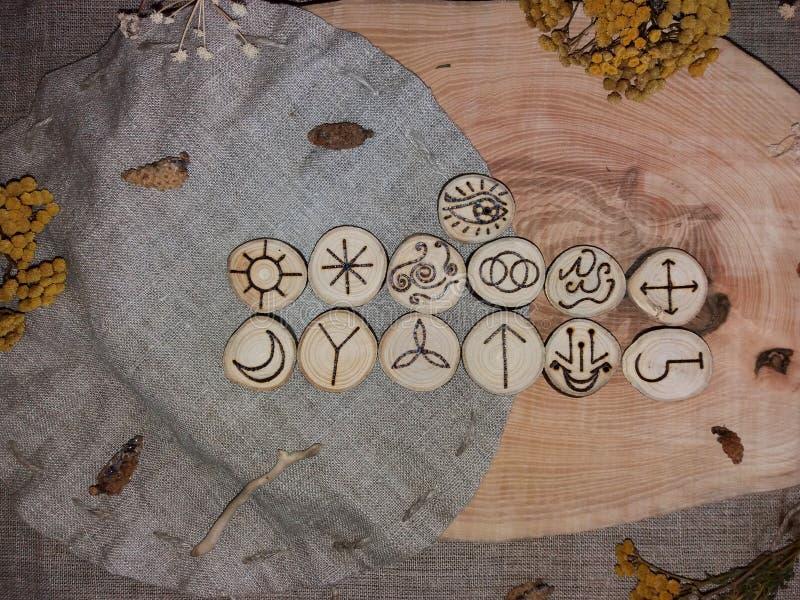Handmade czarownic runes obraz royalty free