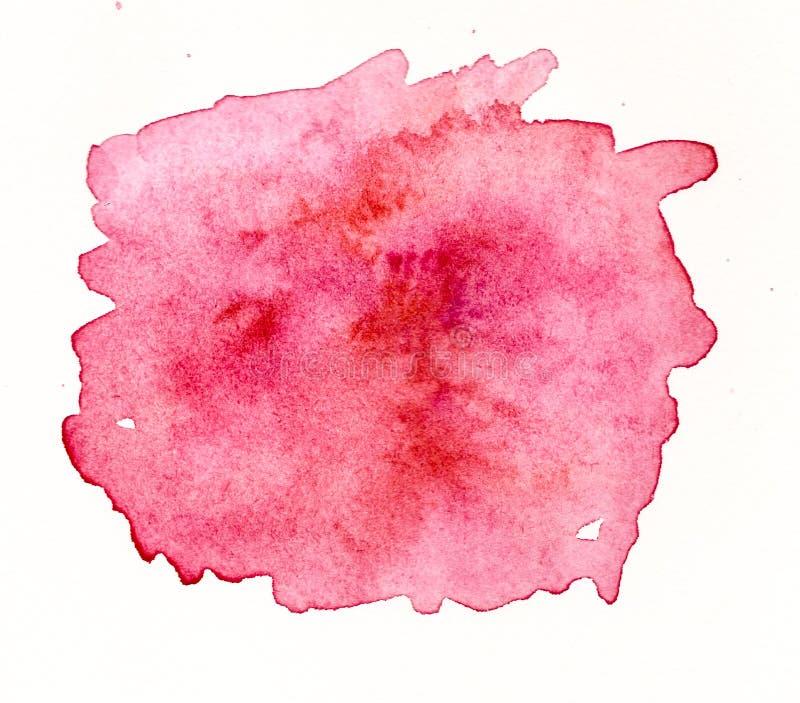 Handmade czerwona akwareli etykietka royalty ilustracja