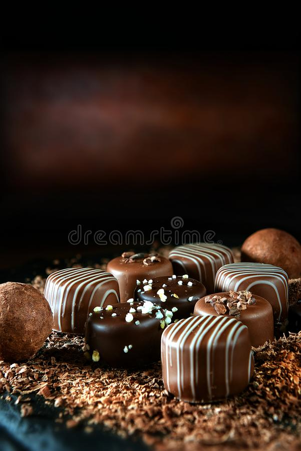 Free Handmade Dark Chocolates II Stock Photography - 108633662
