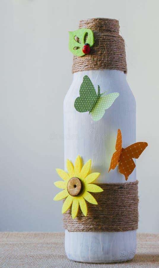 Free Handmade Decorated Bottle Royalty Free Stock Image - 92312386