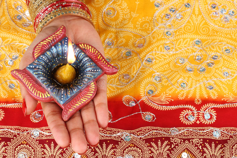 Download Handmade Diwali Diya Lamp Royalty Free Stock Image - Image: 21463596