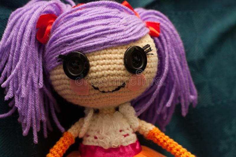 Handmade doll royalty free stock photos