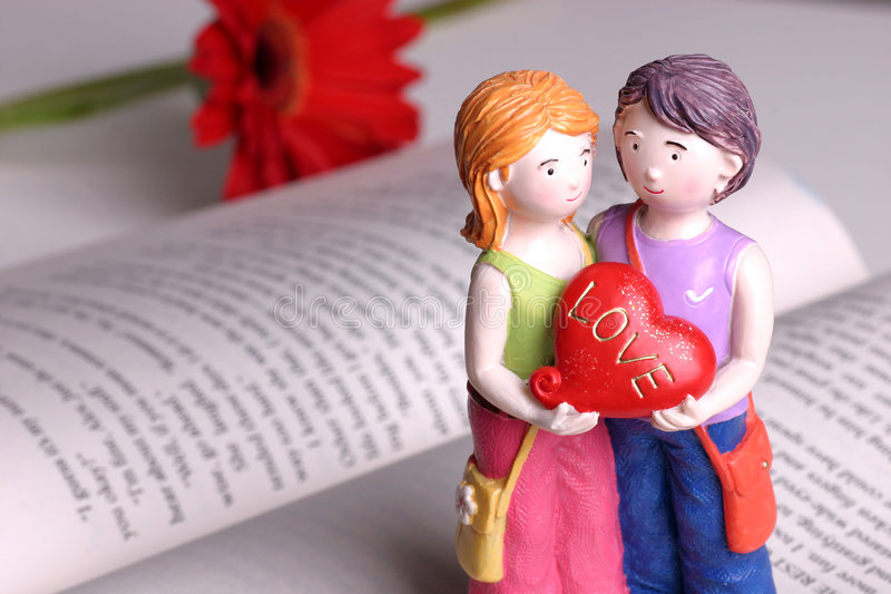 Download Handmade Doll -  I Love You Stock Image - Image of book, sunflower: 804479