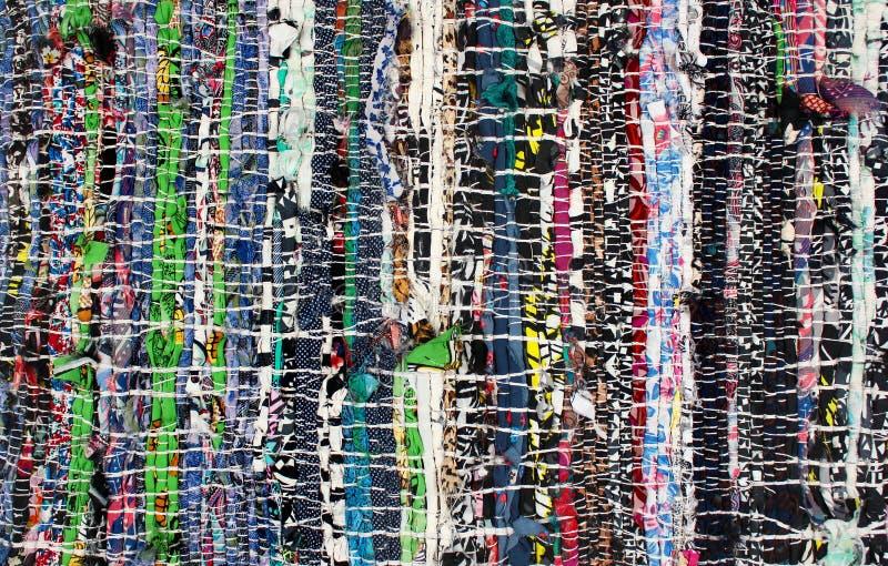 Handmade dywanik robić kolorowi sukienni świstki zdjęcie royalty free