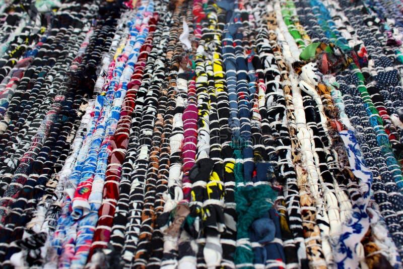 Handmade dywanik robić kolorowi sukienni świstki obraz royalty free