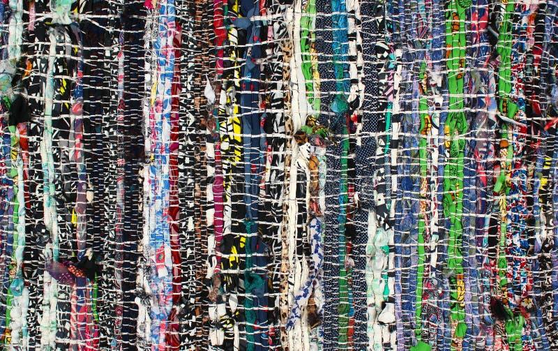 Handmade dywanik robić kolorowi sukienni świstki obraz stock