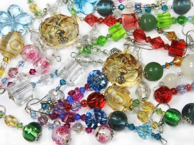 Handmade Earrings royalty free stock image