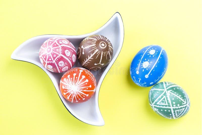 Handmade Easter Eggs stock photo