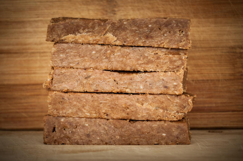 Handmade enery bars royalty free stock image