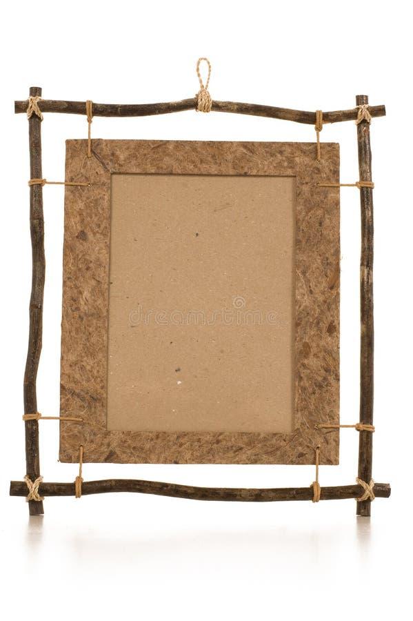 Handmade ethnic photo frame stock image