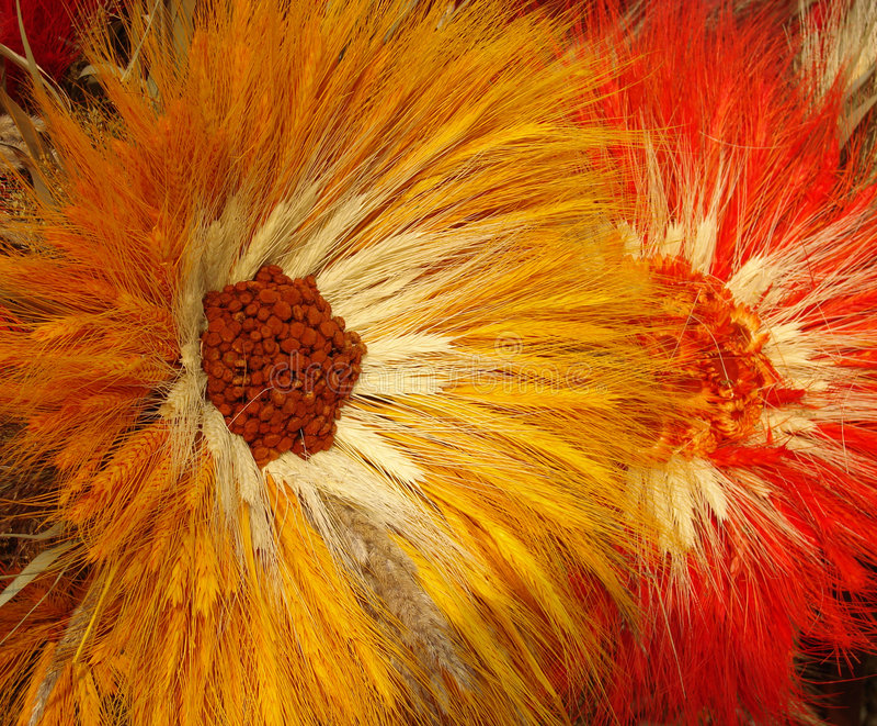 Handmade flowers royalty free stock image