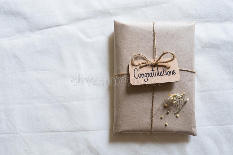 Handmade gift stock images