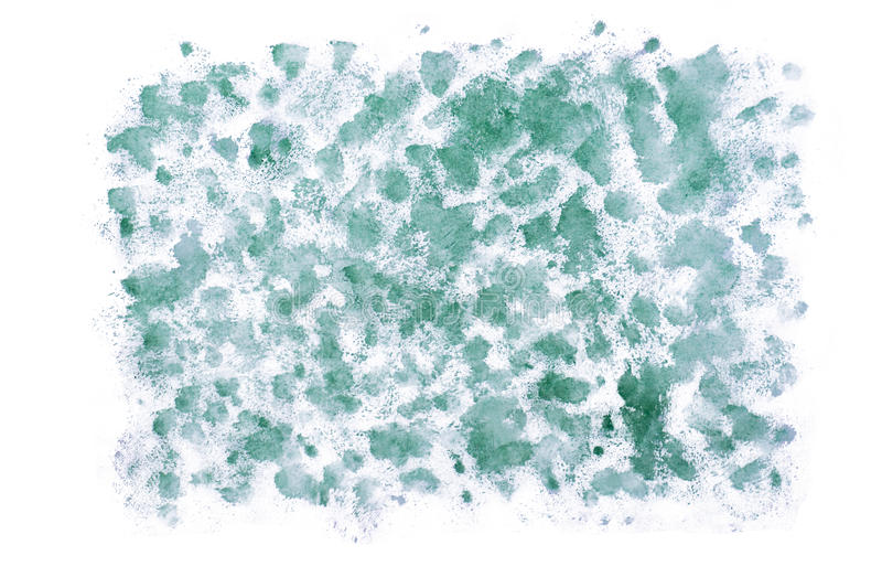 Handmade green watercolor abstract royalty free stock images