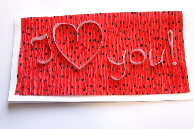 Handmade greeting card stock photo