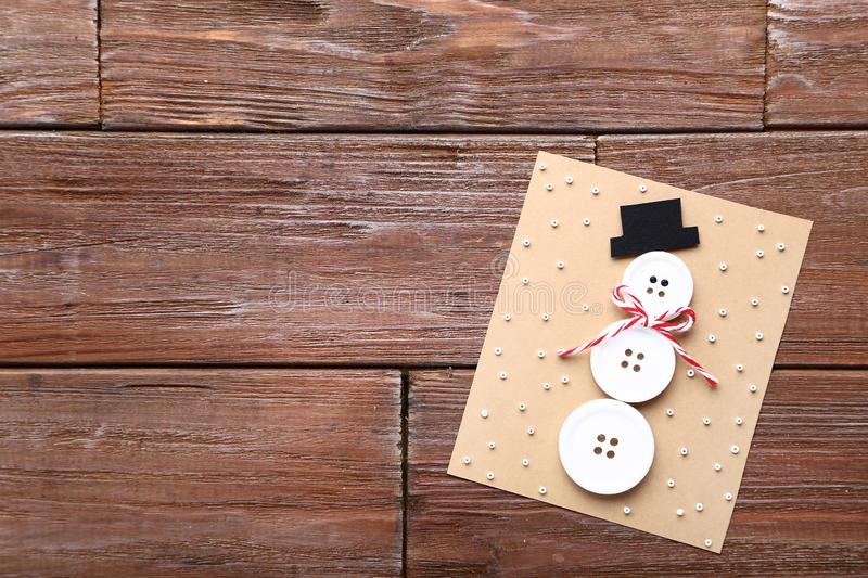 Greeting card with buttons royalty free stock photo
