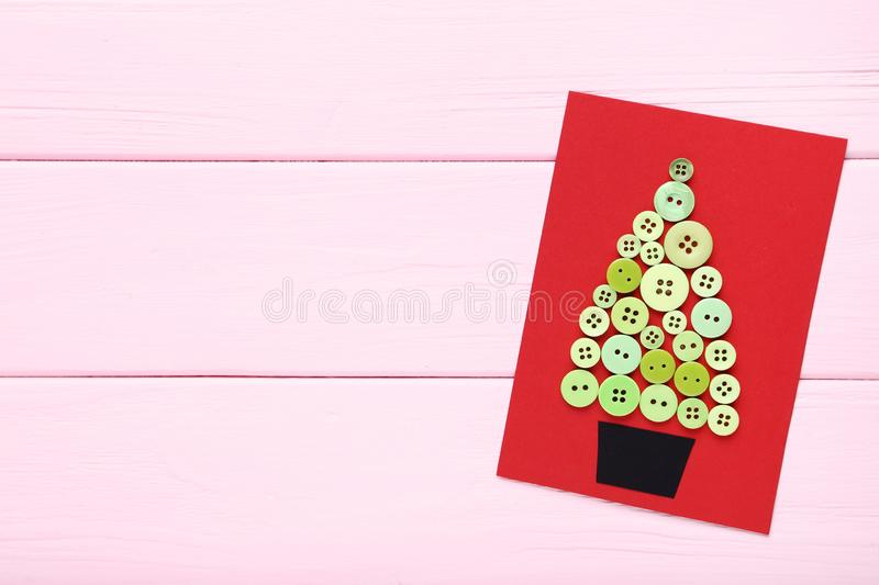 Greeting card with buttons royalty free stock image