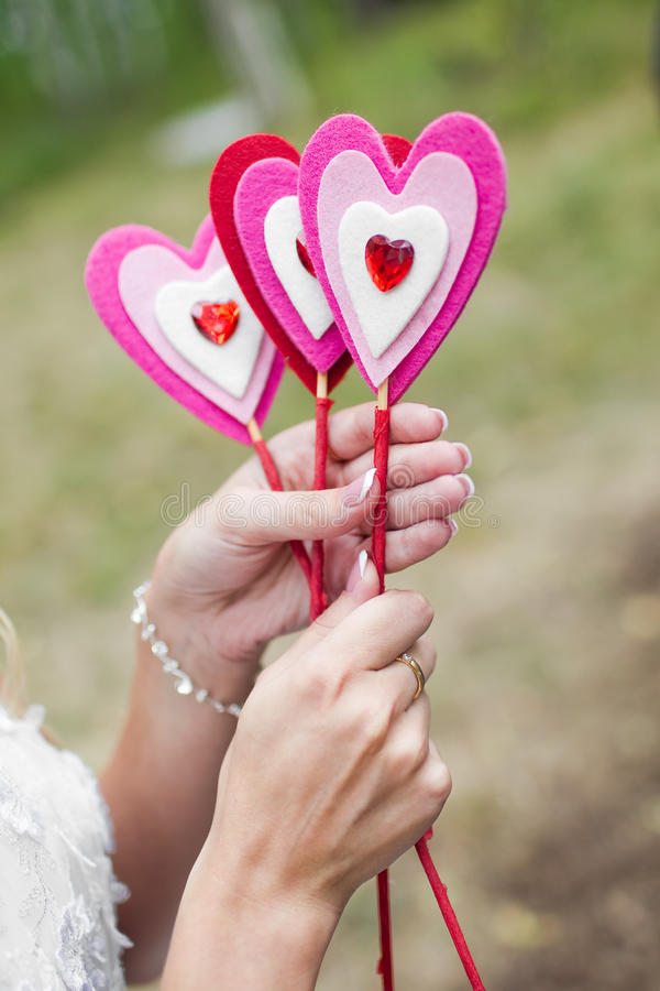 Download Handmade heart stick stock image. Image of woman, shape - 26987401