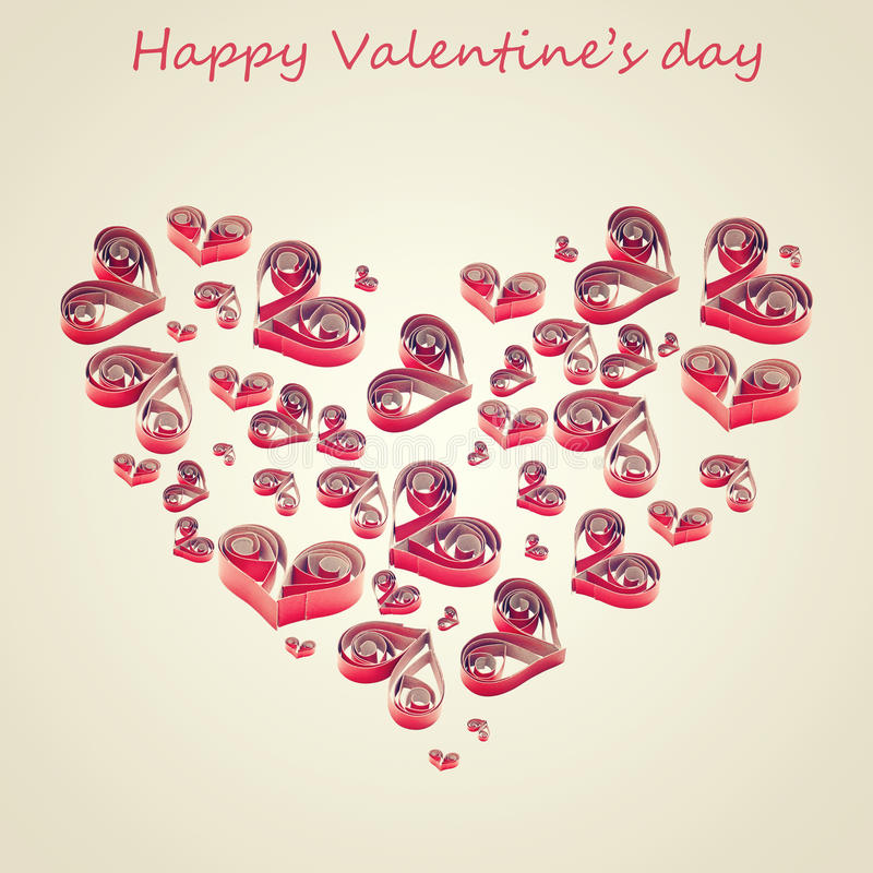 Download Handmade Hearts Cut From Red Paper Stock Photo - Image: 22520056