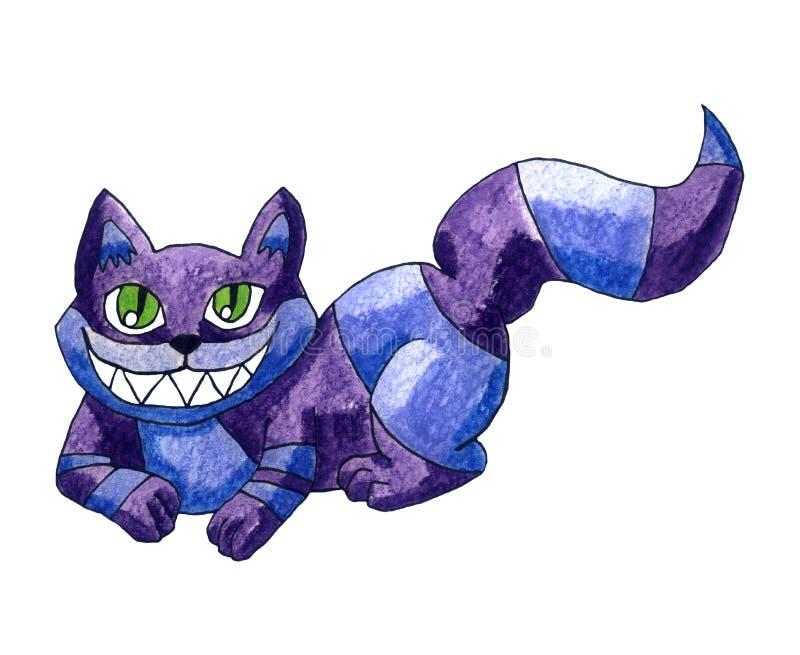 Fantasy Cheshire Cat. Handmade illustration of a Cheshire Cat stock illustration