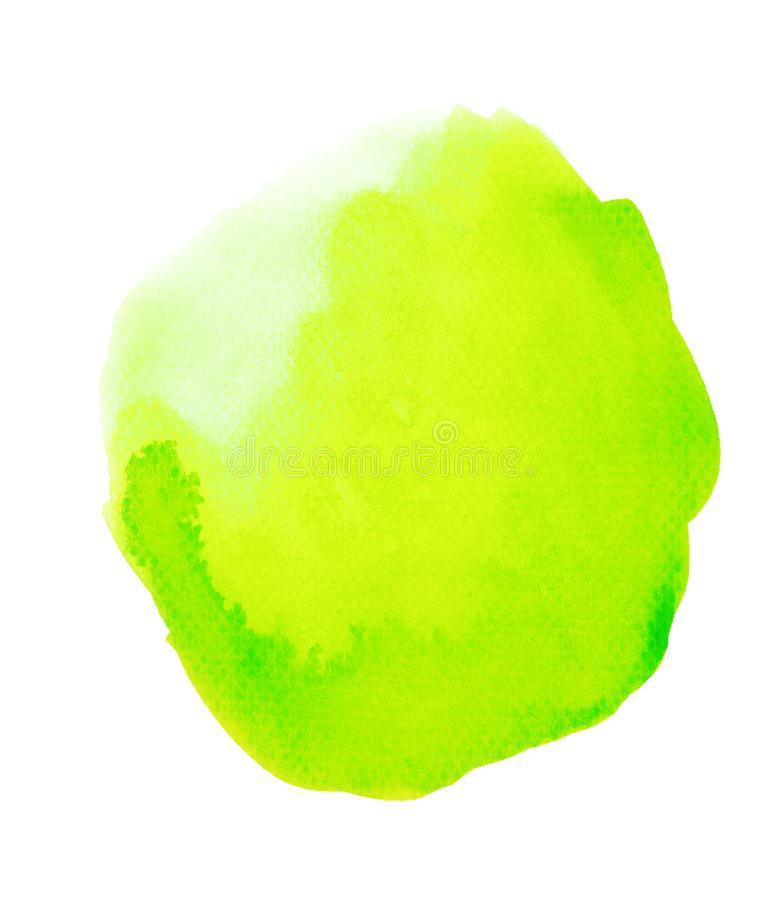 Fantasy Blob of Green Watercolor. Handmade illustration of green watercolor royalty free stock images