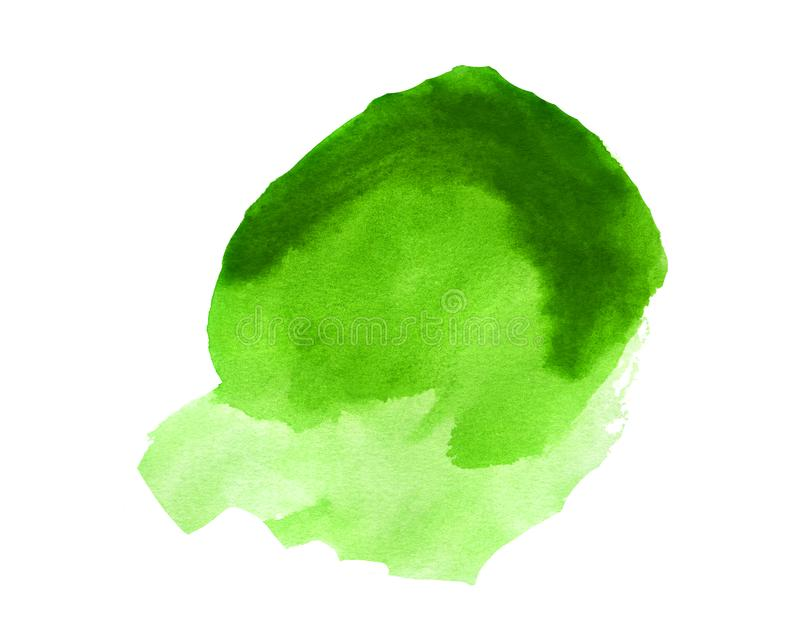 Fantasy Blob of Green Watercolor. Handmade illustration of green watercolor royalty free stock photography