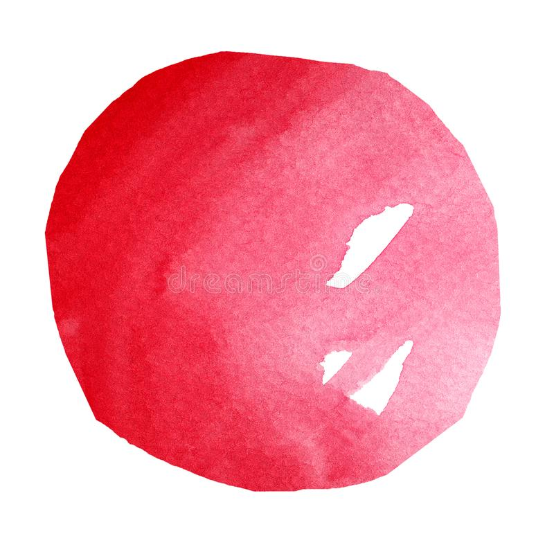 Red Watercolor Sphere stock images
