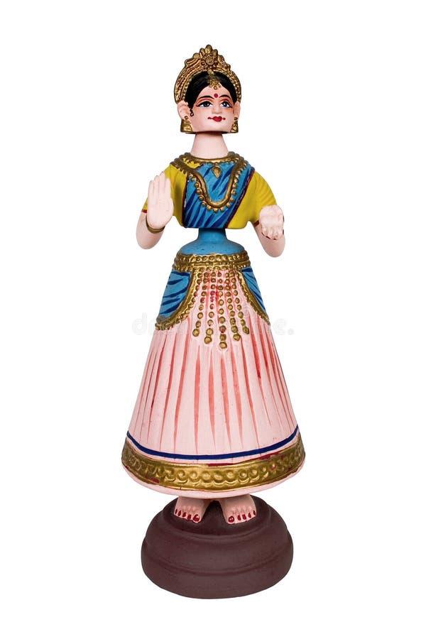 Handmade Indian dancing doll royalty free stock photo
