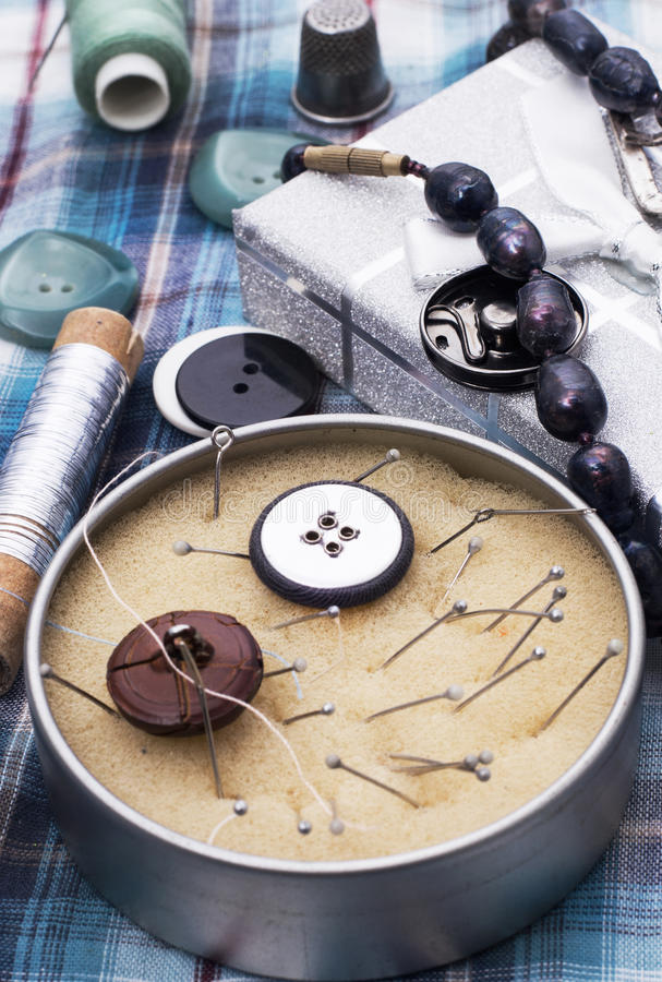 Handmade. And instruments of repairman clothing stock images