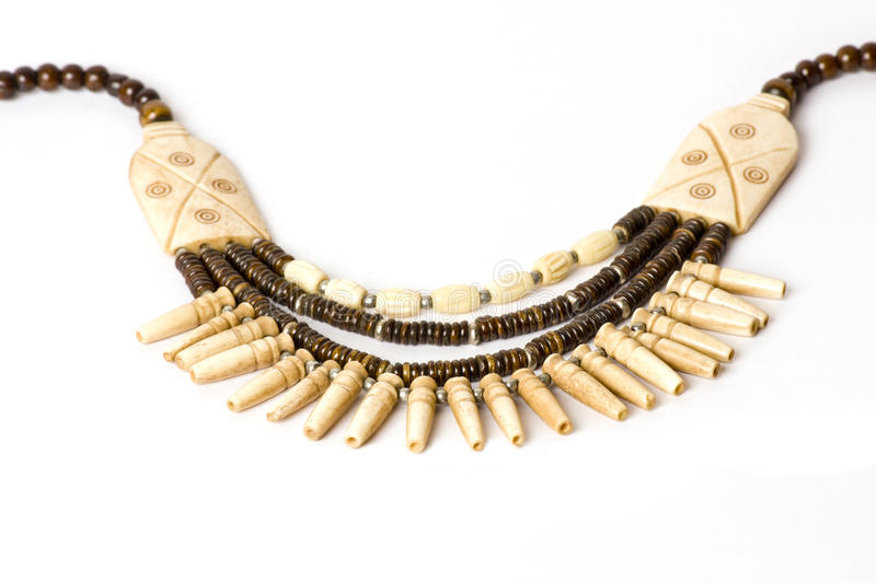 Handmade Ivory And Bead Necklace Royalty Free Stock Images