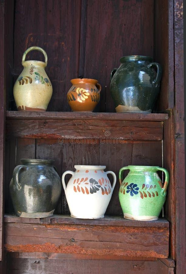 Handmade jugs stock photography