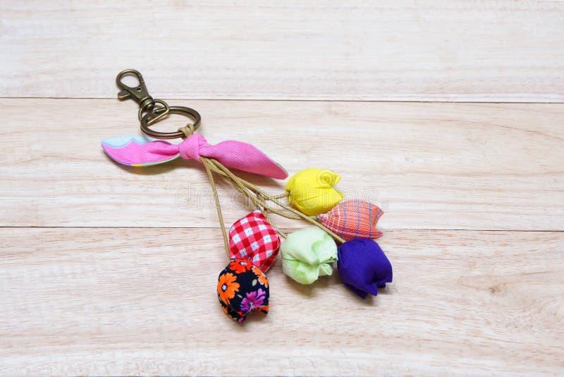 Handmade Keychain Tulip. stock photos