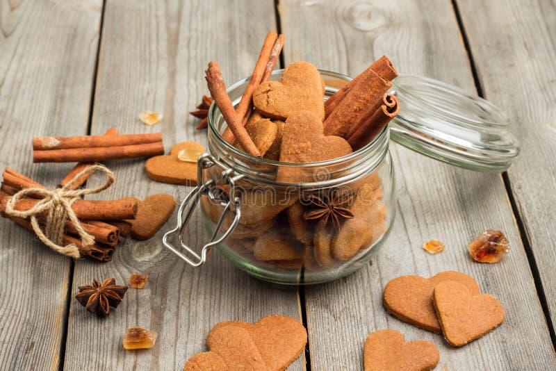 Handmade kierowi ciastka dla walentynka dnia fotografia stock