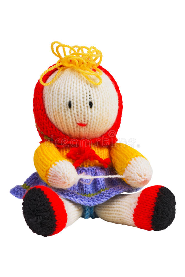 Download Handmade knit toy, doll stock photo. Image of needles - 21880226