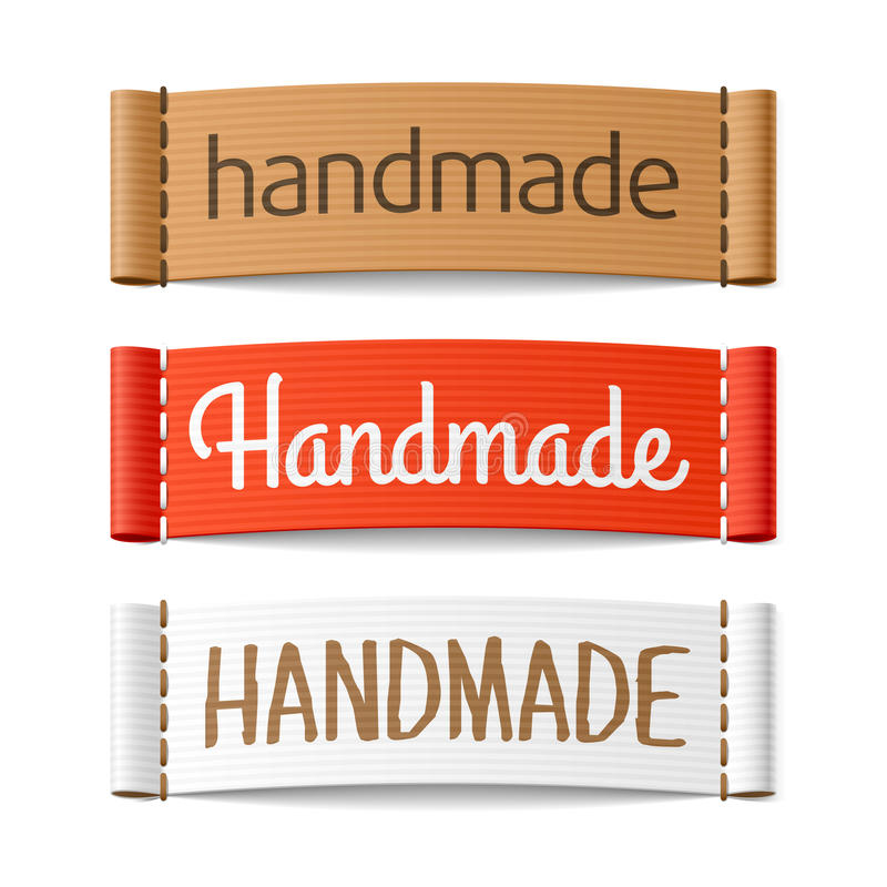 Handmade labels royalty free illustration