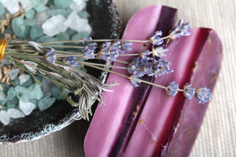 Download Handmade Lavender Soap Bars Bath Salt Stock Photo - Image: 17429988