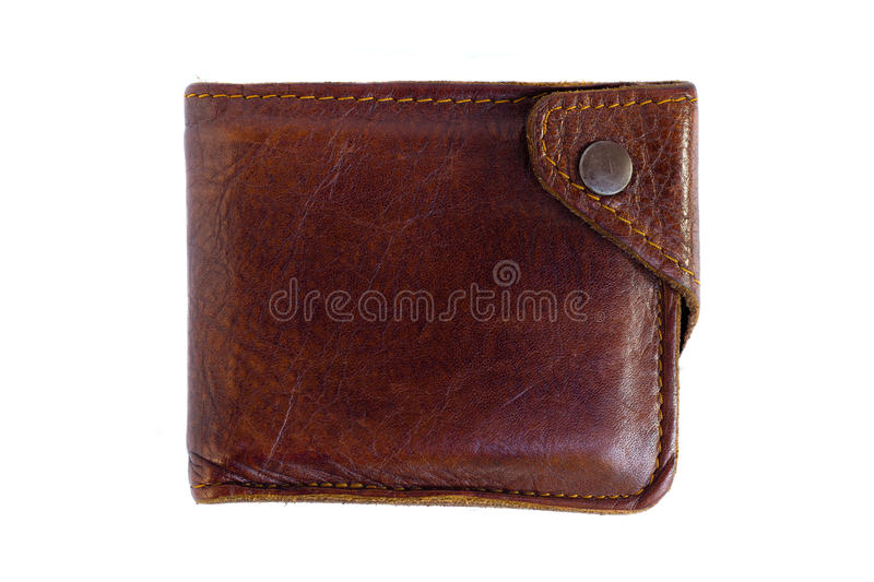 Handmade leather walle royalty free stock photo