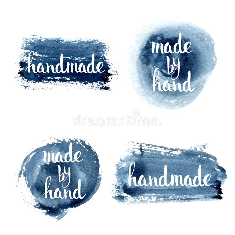 handmade Lettrage fait sur commande original de main illustration de vecteur