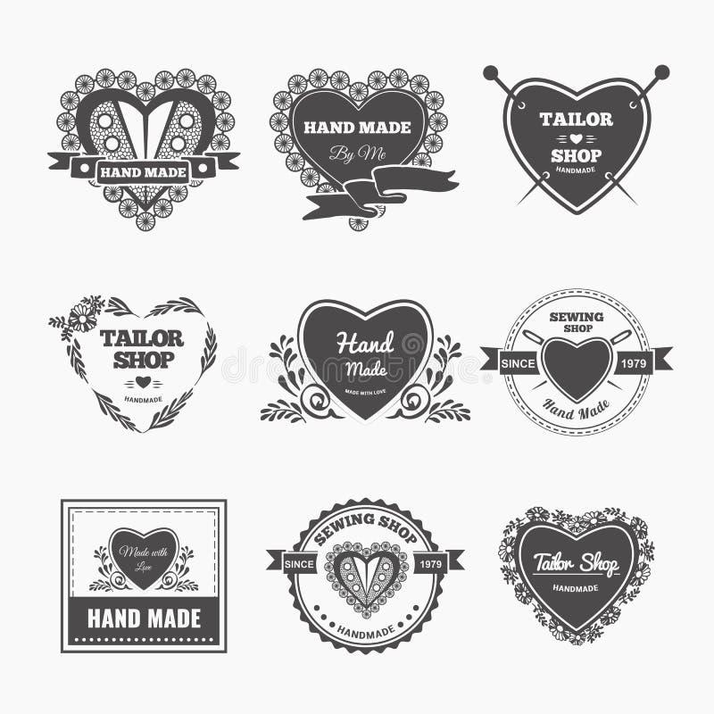Download Handmade logo ilustracja wektor. Ilustracja złożonej z rzemiosło - 53789088