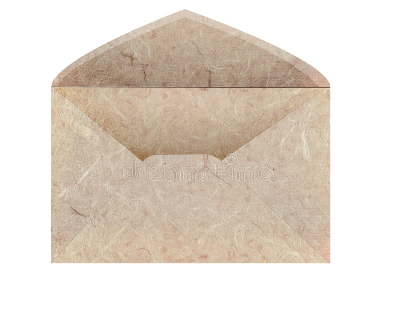 Handmade mulberry paper envelope stock photos
