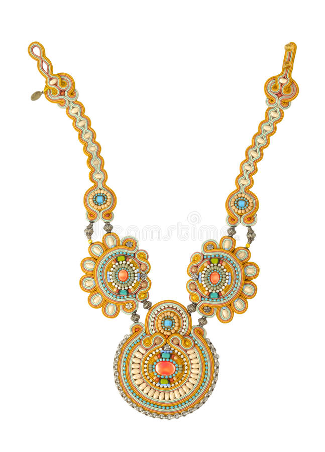 Handmade Necklace stock image