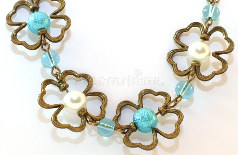 Handmade necklace stock photo