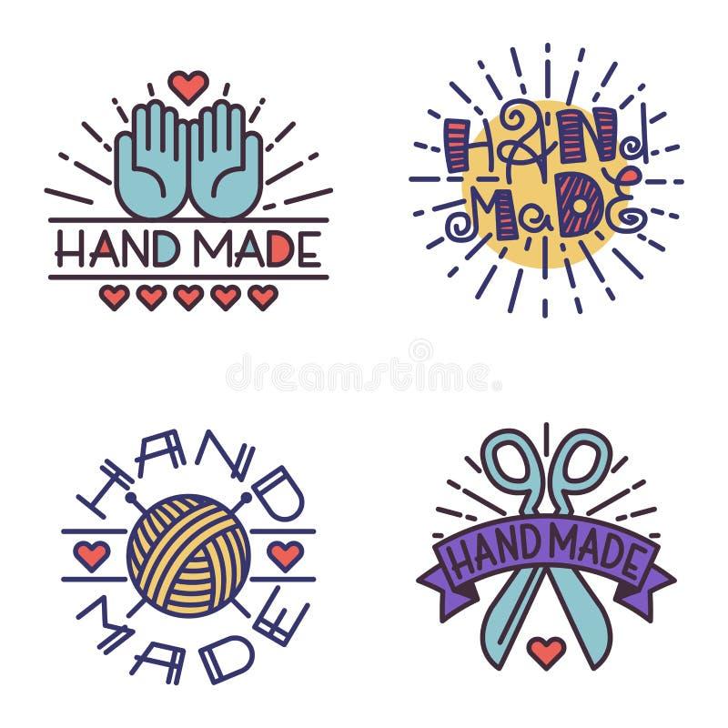 Download Handmade Needlework Badge Logo Vector Stock Vector - Image: 83721051