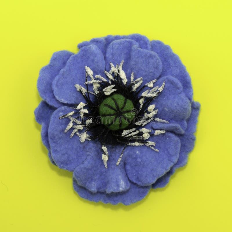 Handmade odczuwany, kwiaty zdjęcia stock