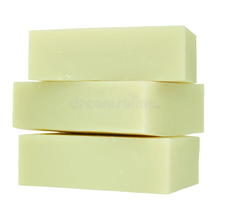 Handmade Olive Oil Soap Isolated royalty free stock image
