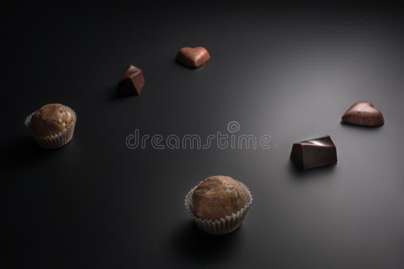 Handmade organicznie cukierek odizolowywający, karmowy tła pojęcie obraz royalty free